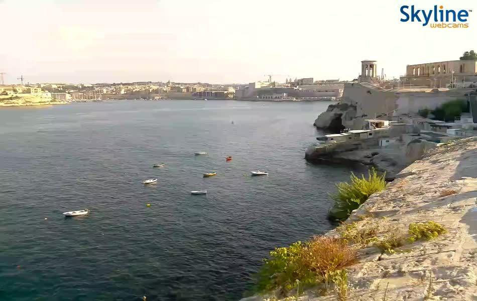 Live Cam Valletta seaside promenade - Birgu