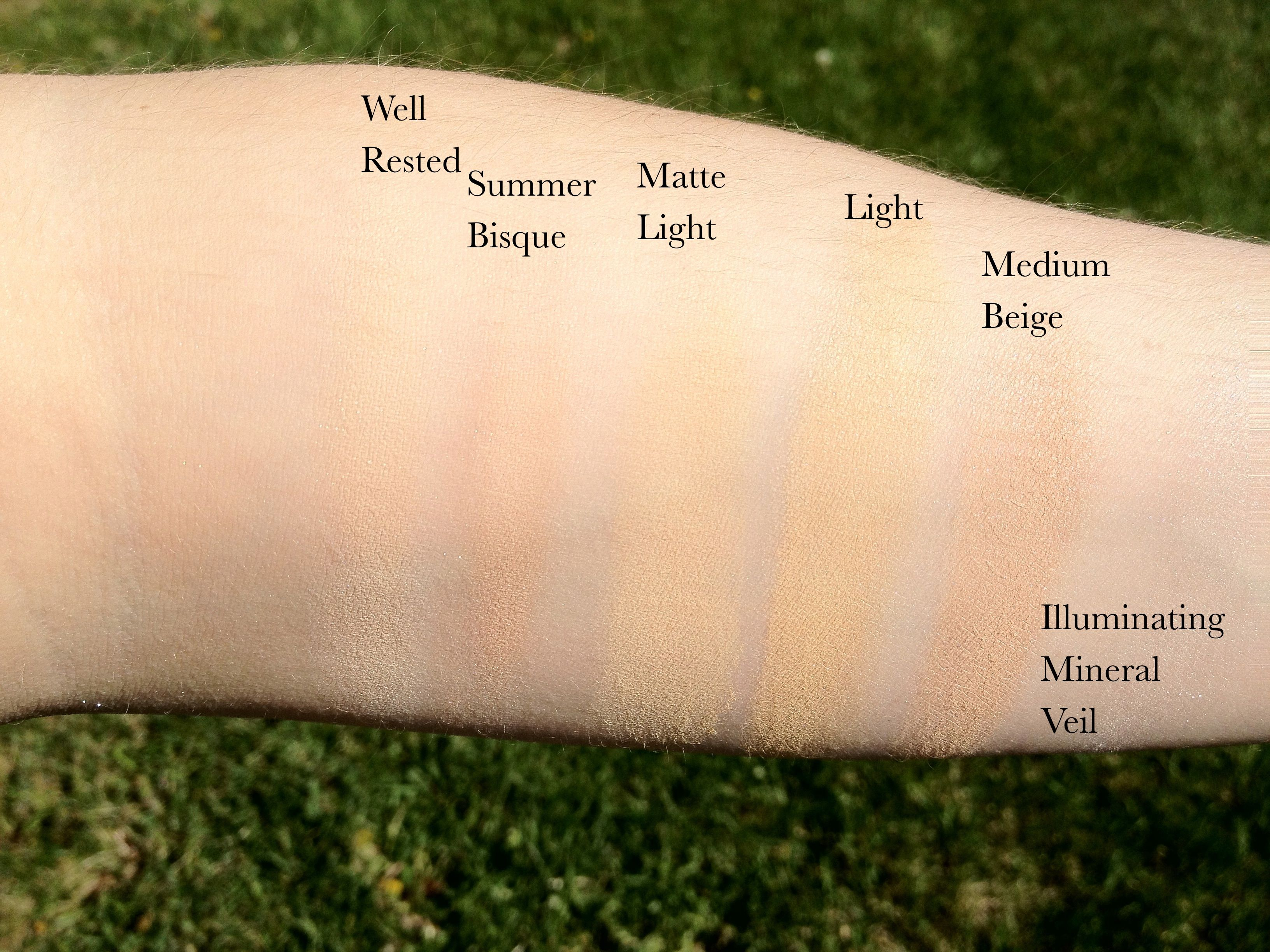 Bare Minerals Concealer Amp Foundation Swatches Pretty