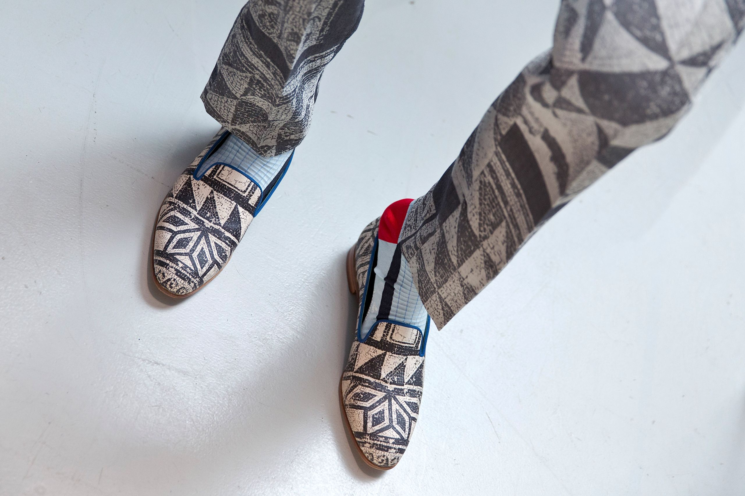Mosaic loafers from AW14/15 MAN collection.