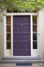 Front door in Benjamin Moore's Dark Purple; Maria Killam…