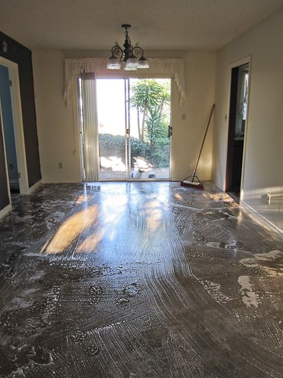 How To Stain Concrete Acid Diy Front