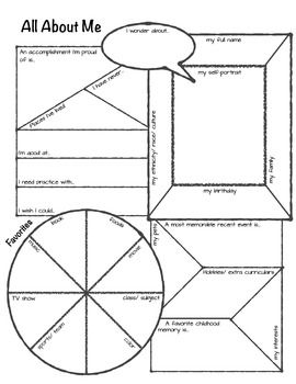 All About Me Graphic Organizer: intro activity upper