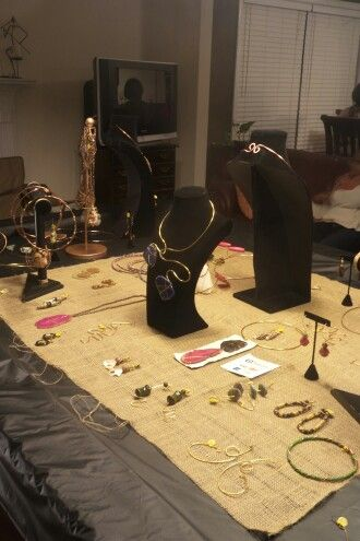 Trunk show with all one of a kind handcrafted pieces