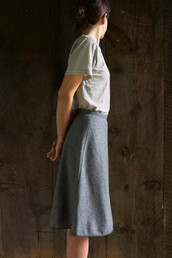 Wool Wrap Skirt | Purl Soho | Sewing | Projects, Patterns