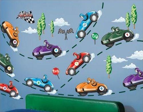 Verspielte Wand Deko Ideen Für Jungen Kinderzimmer Autos