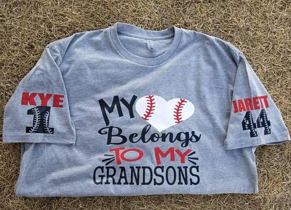 b24ae3c3 Baseball grandma shirt, grandson baseball, love my grandson baseball shirt,  custom baseball shirt, c