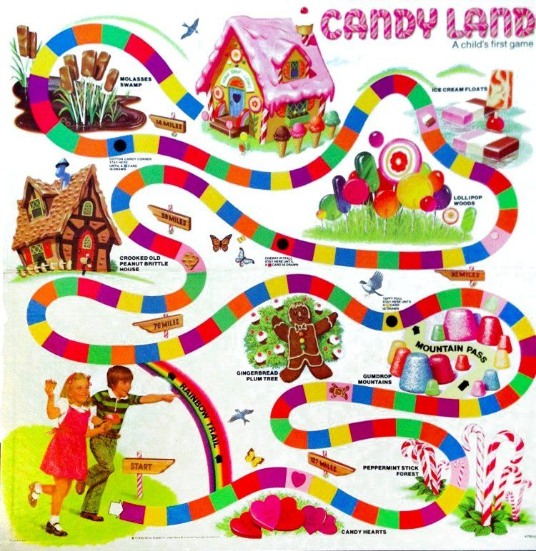 Look Back At Candy Land The Vintage Board Game That Made Millions Of Kids Dream Of An Ice Cream Lollipop World Vintage Board Games Candyland Candyland Games