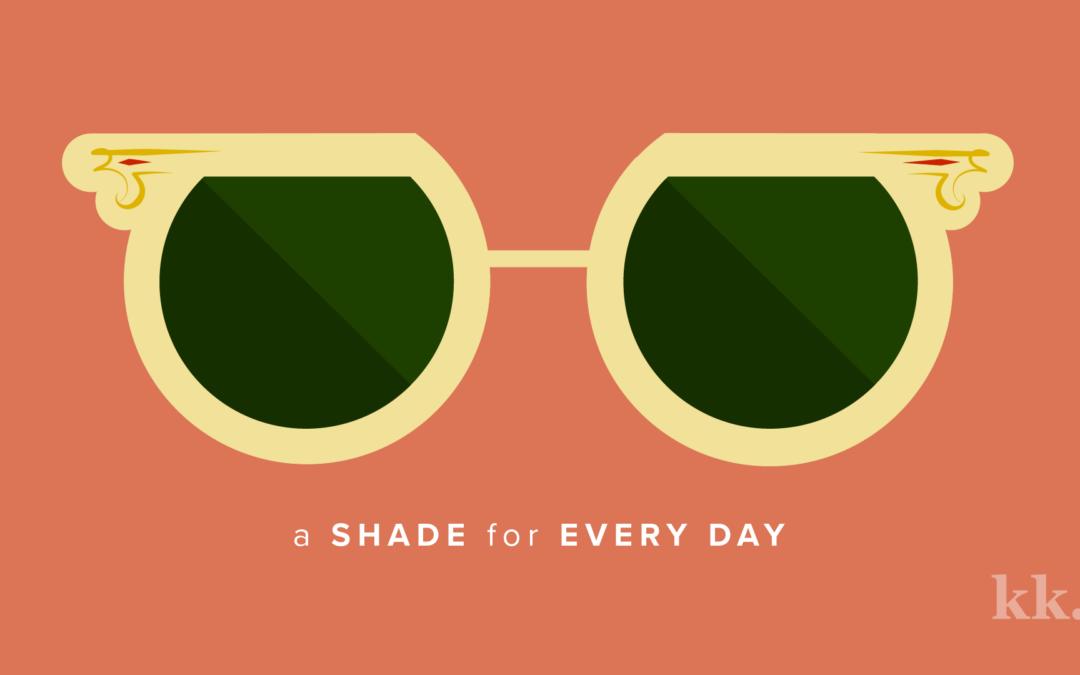 Day of the Week Sunglasses Beautiful symbols, Yellow