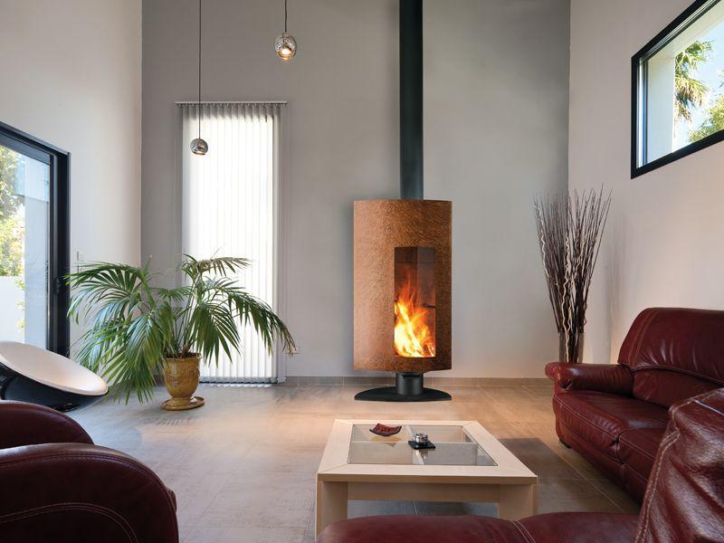 Cheminee Poele Design Stofocus Rouille Cheminee Moderne Modeles