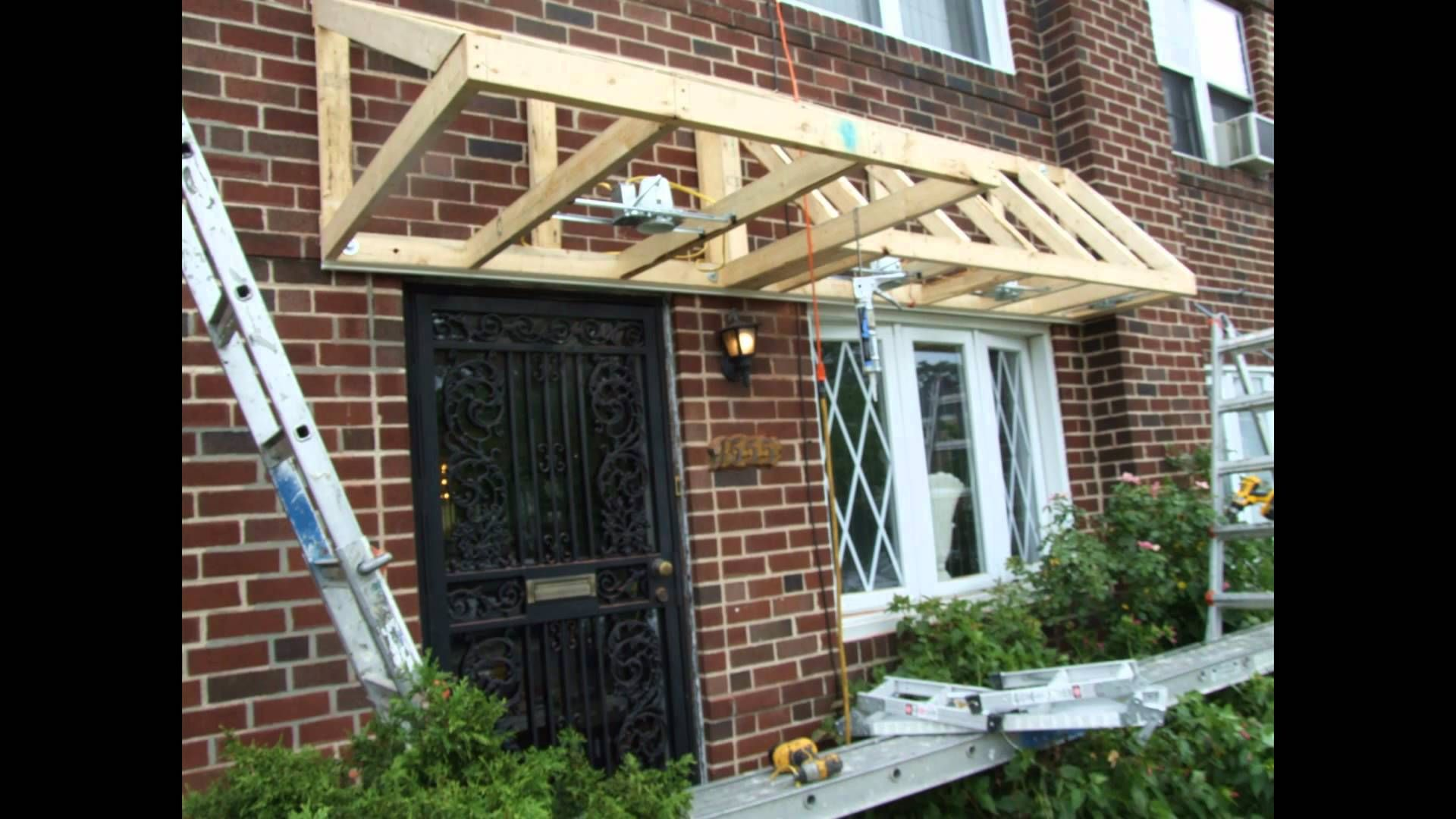 Pent Roof Over Door Slideshow - YouTube | Porch roof ...