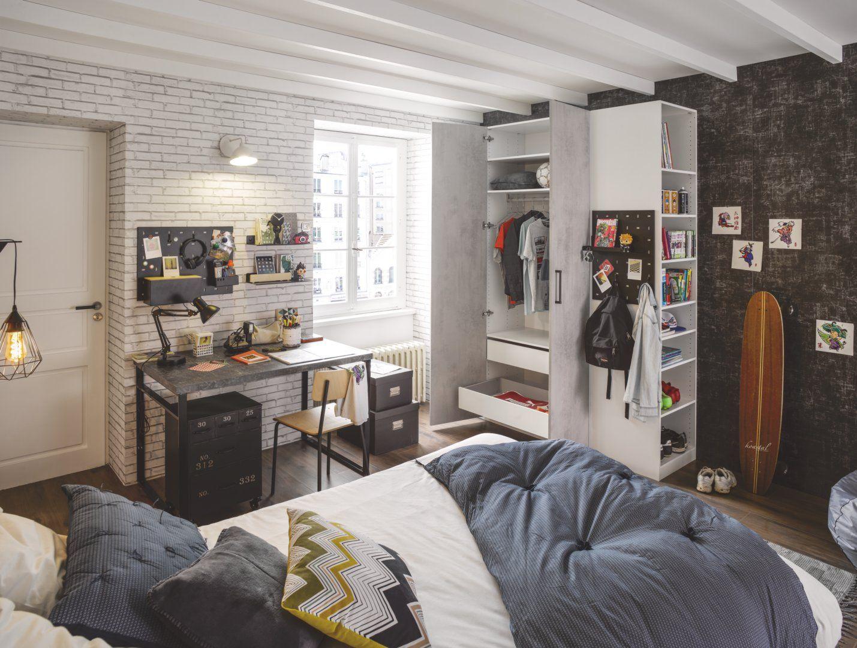 D Clic Beton Clair Blanc Decoration Maison Meuble Rangement