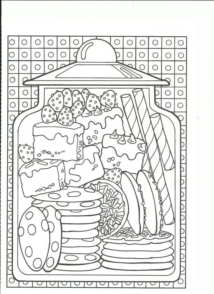 Gourmandises Food Coloring Pages Mandala Coloring Pages