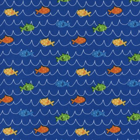 Splash by Timeless Treasures - Fish (Blue)