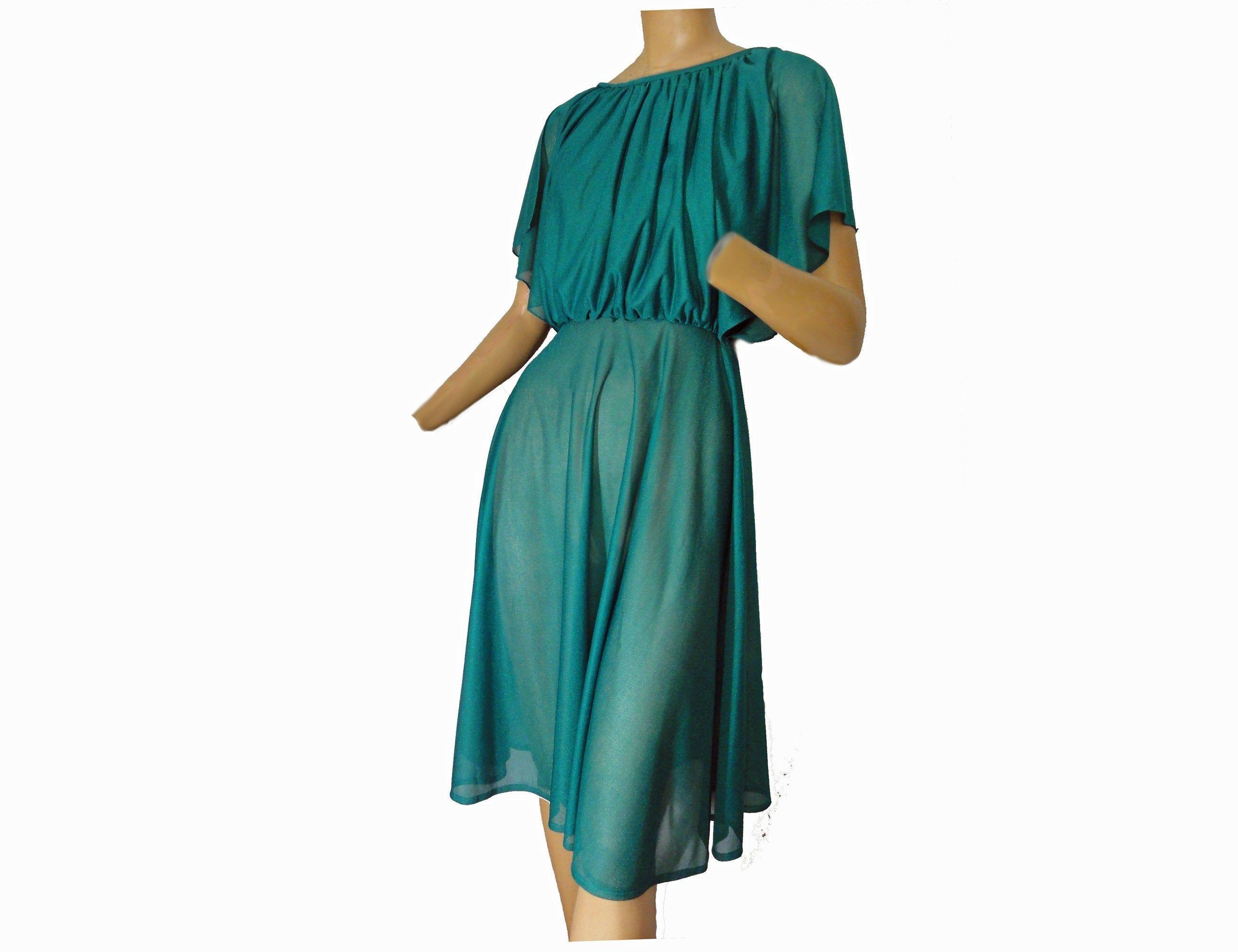 Vintage Greek Goddess 70s Party Dress Sheer Green Disco Dance Etsy Sheer Dress Party Dress 70s Maxi Dress [ 1994 x 2591 Pixel ]