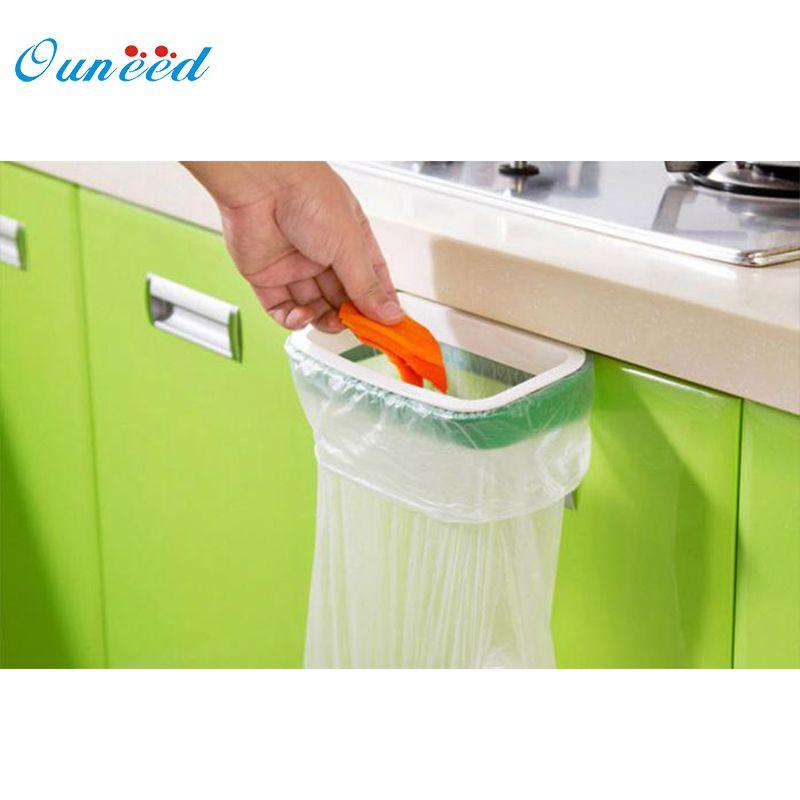 Hängen Küchenschrank Tür Zurück Stil Stehen Müll Müllbeutel ...