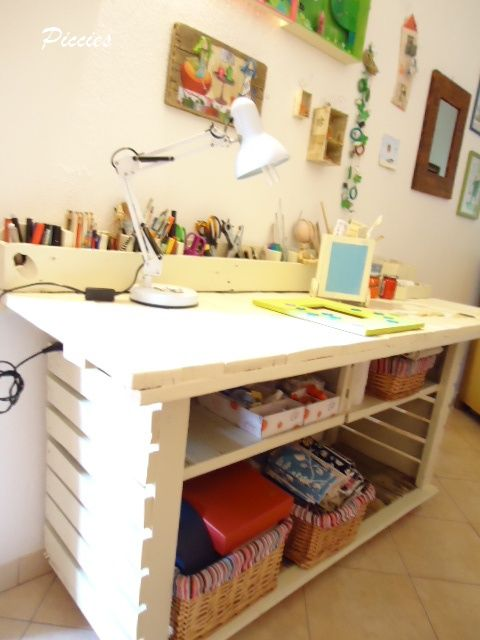 escritorio hecho de pales desk made with pallets