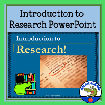 Introduction To Research Powerpoint Research Skills Research Paper Research