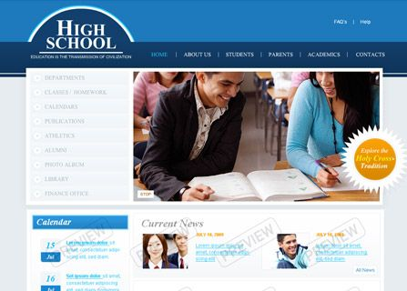 School Website: Web Layout (Fancy) | Website Ideas | Pinterest