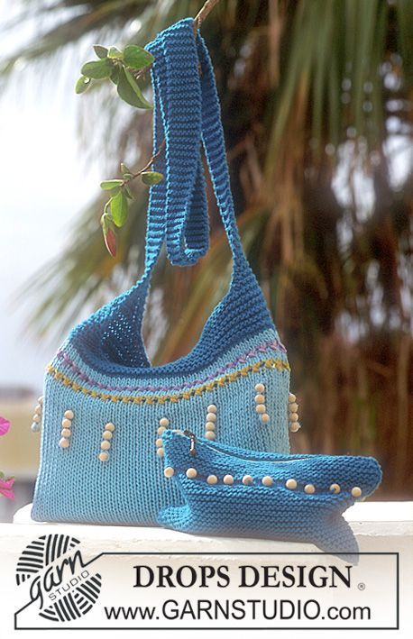 Bag, Purse and Tote Free Knitting Patterns | Cuentas de madera ...