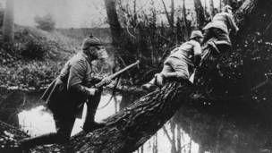 Soldados alemanes en Bélgica