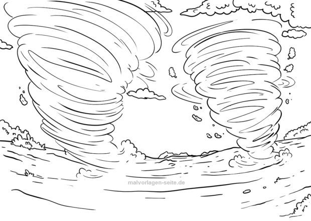 Malvorlage Tornado