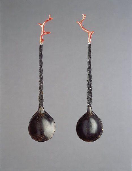 Fine Ottoman Turkish Fruit Sherbet Spoons (1800 to 1900 Turkish)