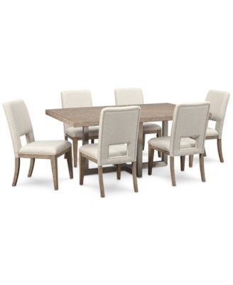Altair Dining Furniture Set 7 Pc Dining Table Amp 6 Side