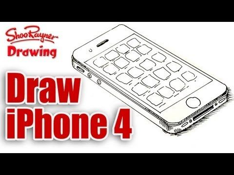 How to draw an iPhone 4