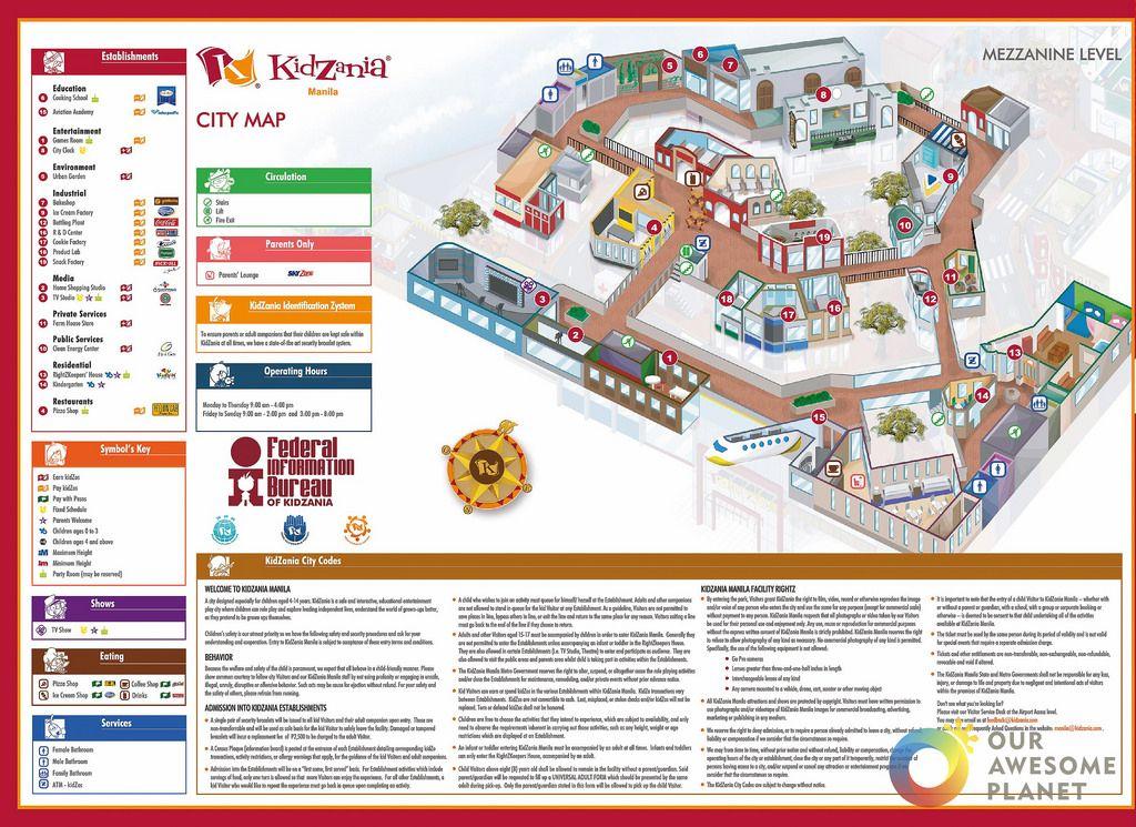 kidzania mapa A KidZanian Guide to the Play City of @KidzaniaManila | Maps  kidzania mapa