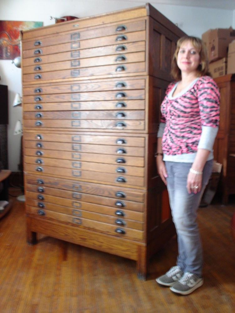 Vintage industrial antique dietzgen 20 drawer wood blueprint flat vintage industrial antique dietzgen 20 drawer wood blueprint flat file cabinet malvernweather Image collections