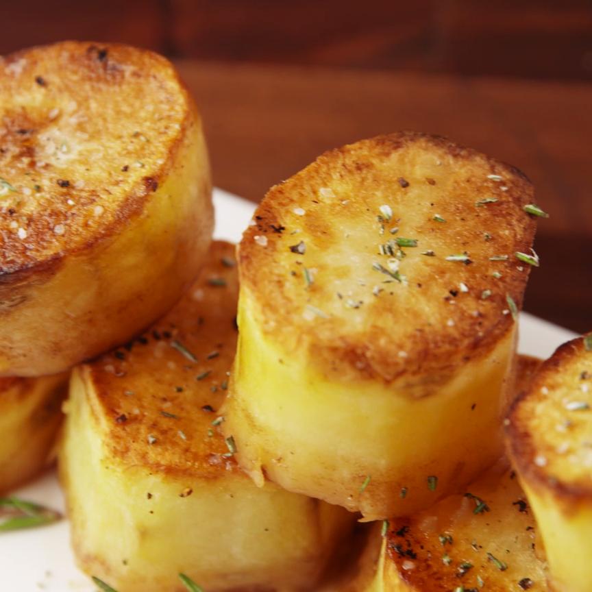 Fondant Potatoes #foodsides