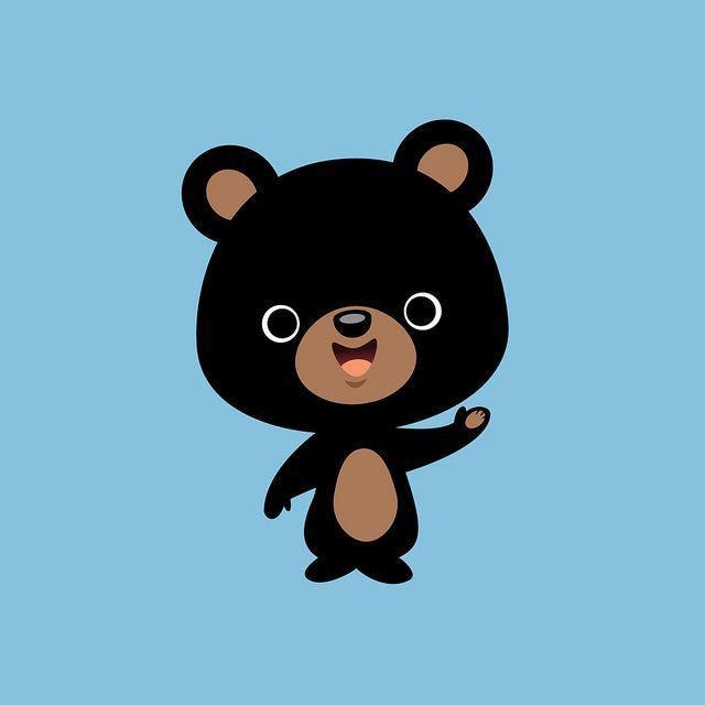 Little Black Bear Cute Cartoon Drawings Bear Cartoon Black Bear