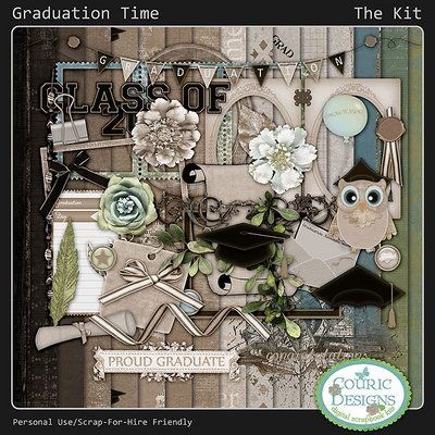 Graduation Time by Couric DesignsGraduation Time {Kit} $4.99 Sale: $2.99 Save: 40% off