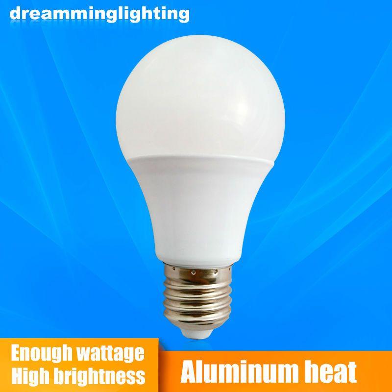 E27 B22 بقيادة مصباح 110 فولت 220 فولت ضوء الألومنيوم قاعدة غلوب الإضاءة الداخلية 3 واط 5 واط 7 واط 9 واط 12 واط 15 واط الباردة Interior Lighting Bulb Led Lamp