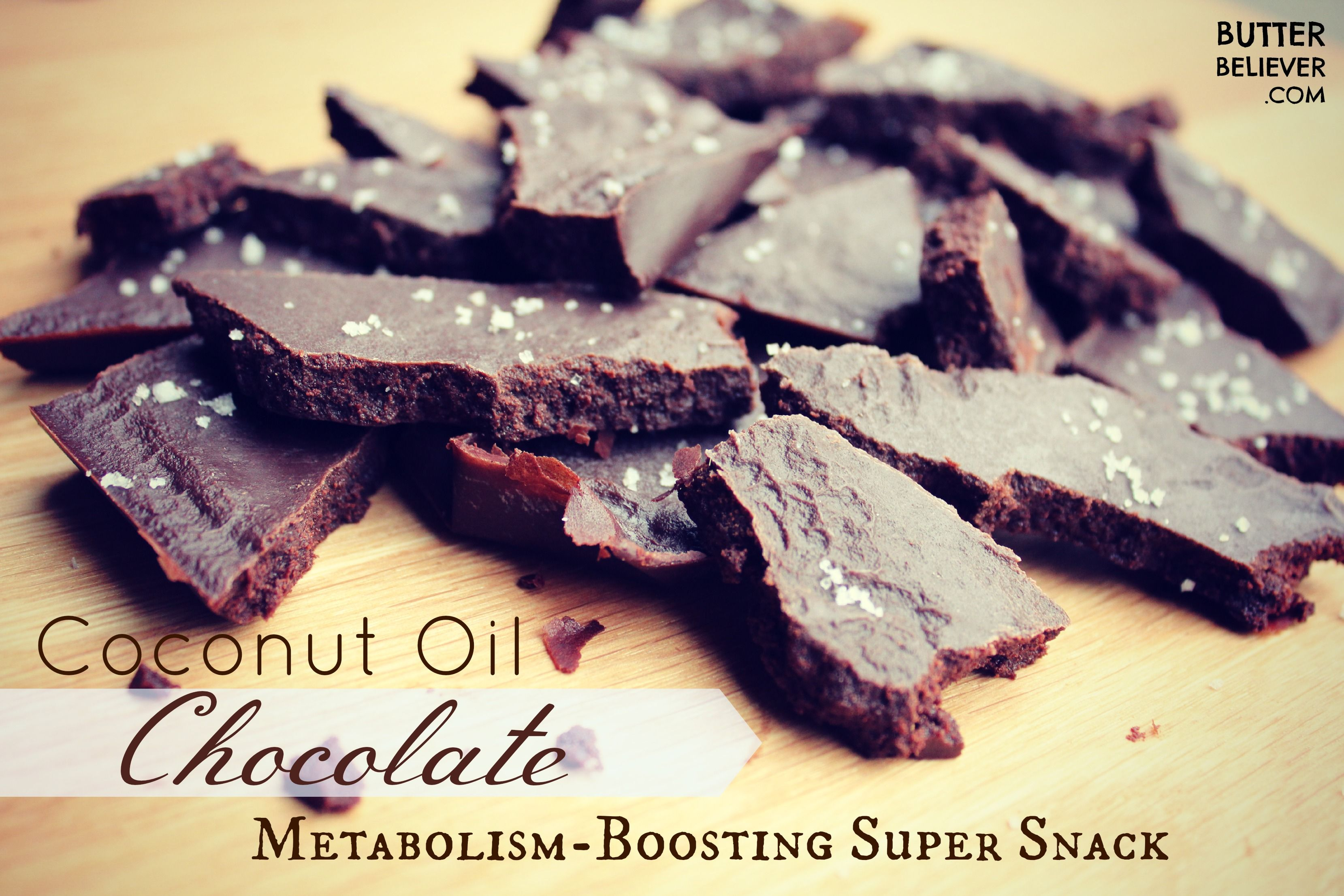 Homemade Dark Chocolate Made With Coconut Oil Boosts Your