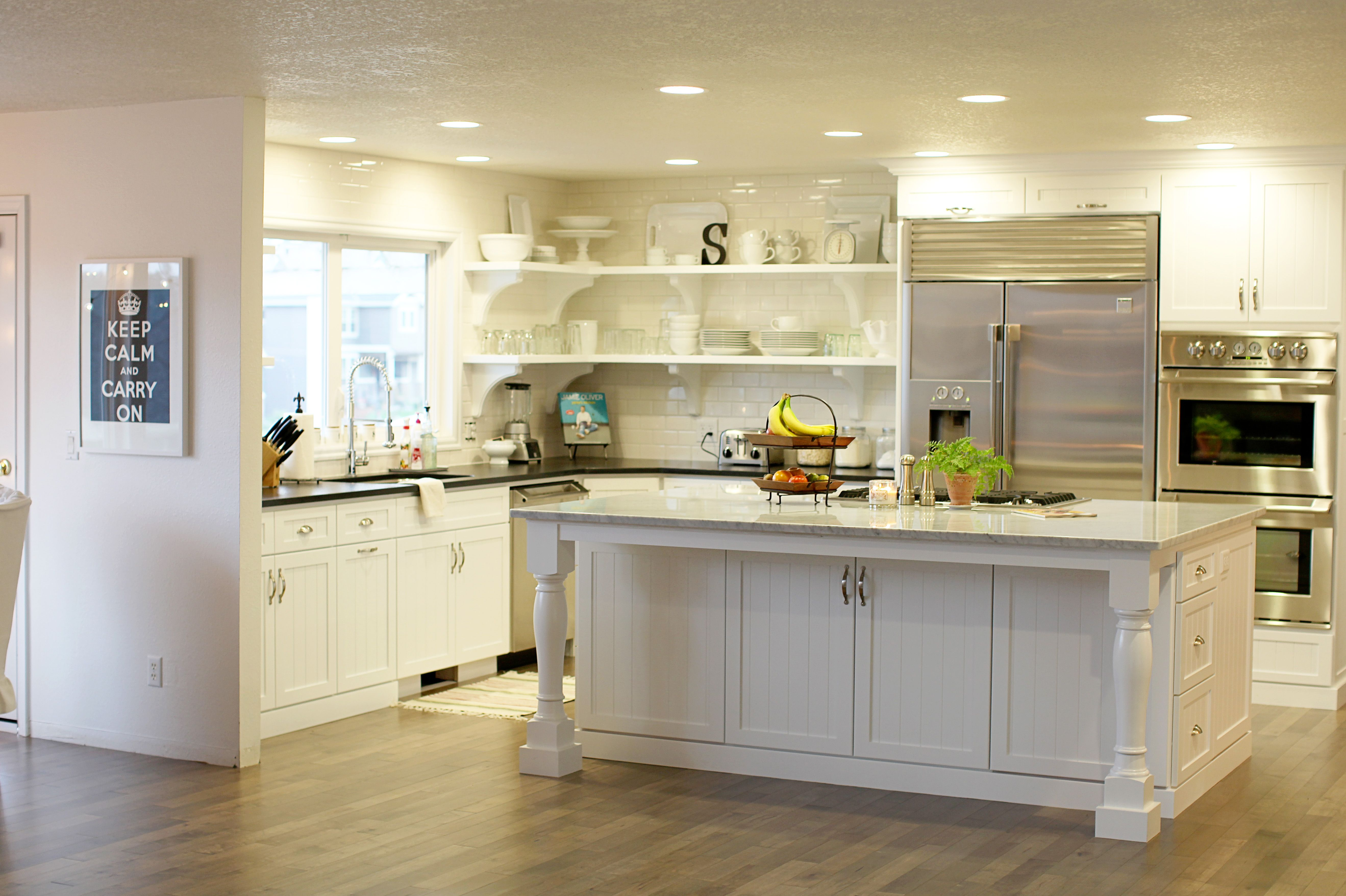 kitchen island with open shelves kitchen with open shelves and island storage options 24814