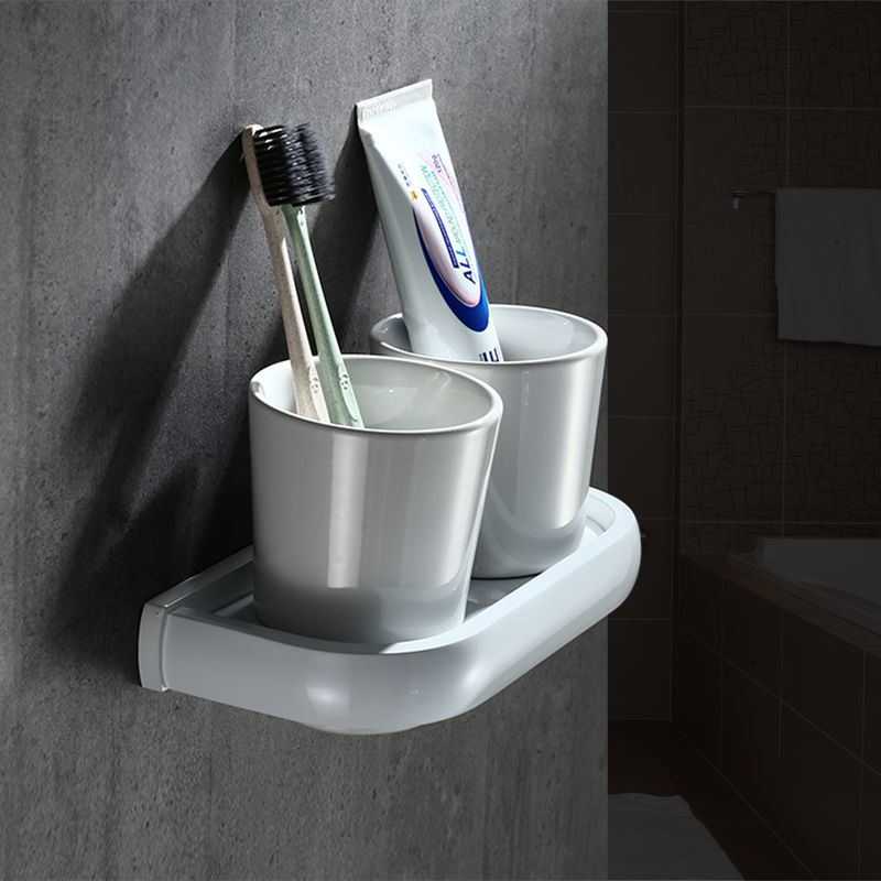 wall mounted bathroom accessories set. Entique White Painting Nordic Double Cup Wall Mounted Bathroom Mouthwash  Holder Pure Ceramic Accessories