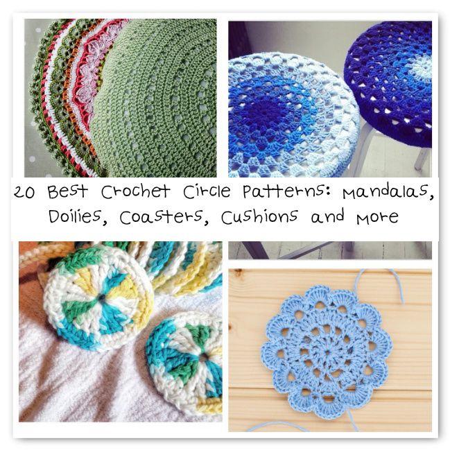 20 Best Crochet Circle Patterns: Mandalas, Doilies, Coasters ...