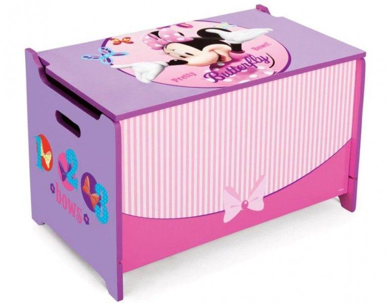 Disney minnie cassapanca contenitore portagiochi in legno for Mobili portagiochi per bambini