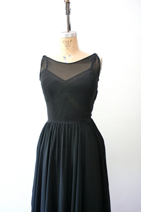 1950s dress / 50s party dress / Sheer Sparkle by nocarnations, $104.00
