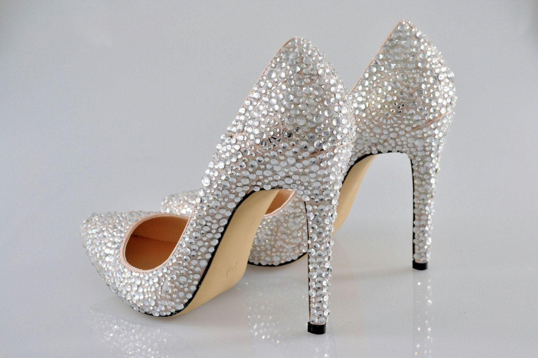 Pin On Crystal Bridal Wedding Shoes