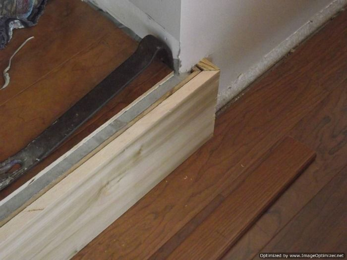laminate flooring sunken living room furniture sets argos concrete step down to have installed on the