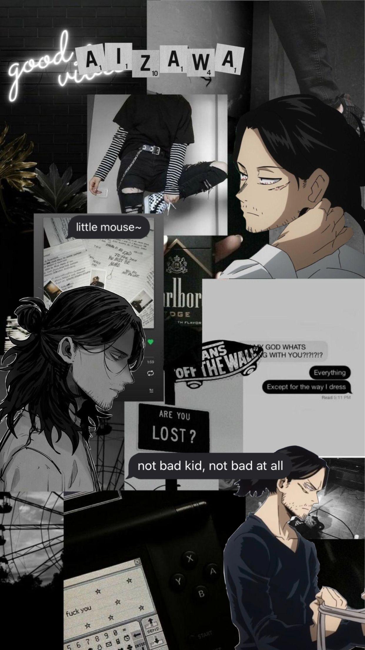Mr Aizawa wallpaper #aizawa #myheroacademia #dark #wallpaper #freetoedit