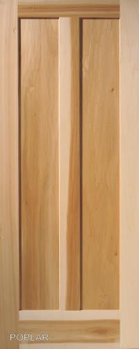 panel vertical poplar flat mission stain grade solid core wood interior doors house ideas pinterest bedroom and also rh