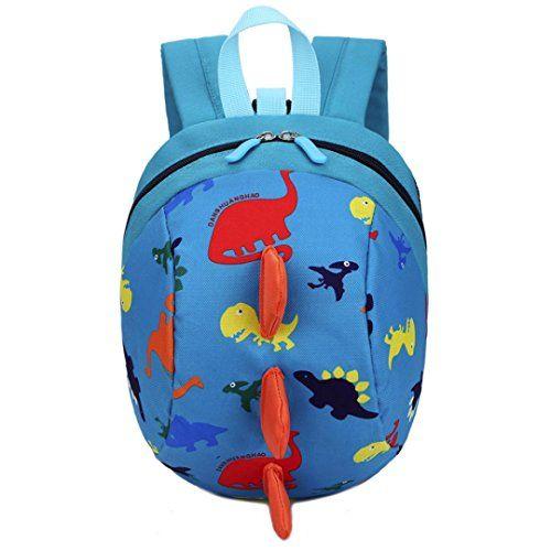 Baby Boys Girls Kids Dinosaur Pattern Animals Backpack Toddler School Bag ( Blue) 05928c2cddfcf