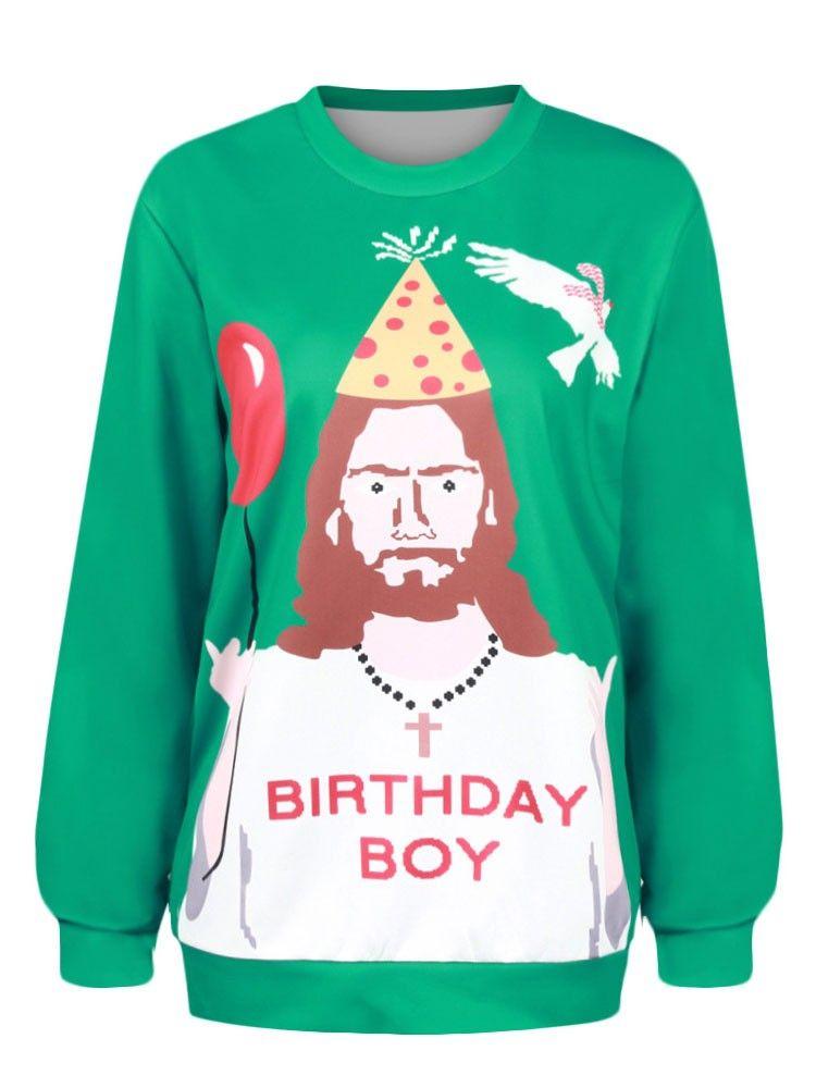 Ugly Christmas Sweats Happy Birthday Jesus Sweats | Nice Things ...