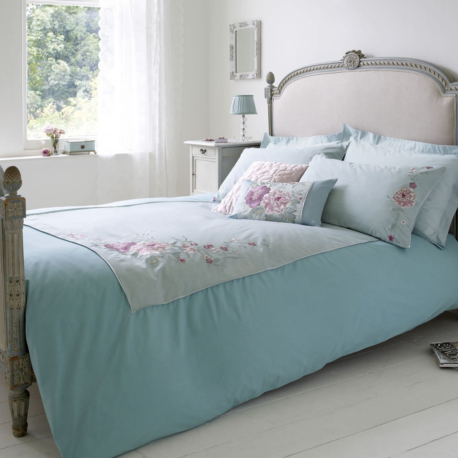 Calming shades Bed, Luxury bedding sets, Bedroom styles