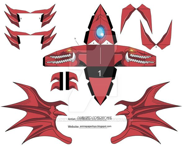 Slifer Yu Gi Oh Cubee By Animepapertoys Paper Wooden Modles