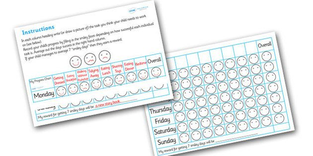 Routine Progress Chart - progress, routine, daily, charts, chart - progress chart for kids