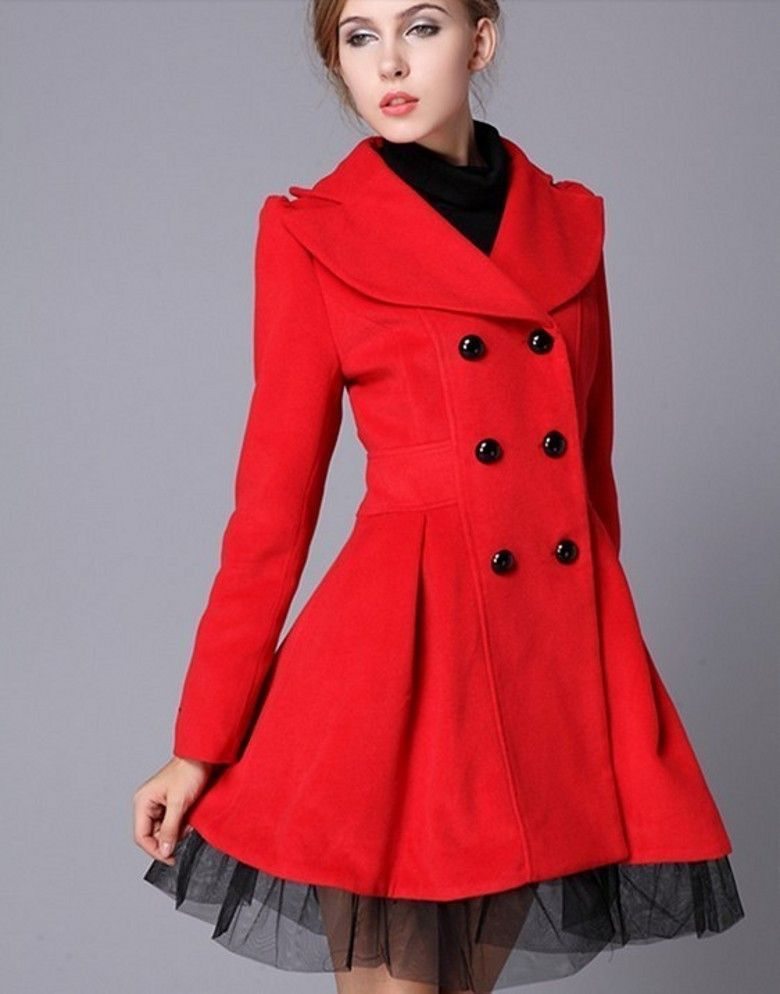 High Quality Fashion Wool Long Winter Dress Coat | Dresses ...